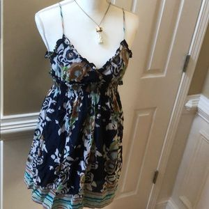 BCBGMAXAZRIA navy petite S sun dress